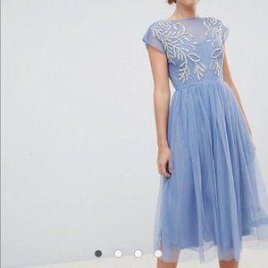 ASOS Design Embellished Open Back Tulle Dress 10